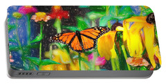 Monarch Butterfly Colored Pencil Portable Battery Charger