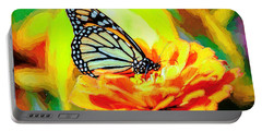 Monarch Butterfly Van Gogh Style Portable Battery Charger