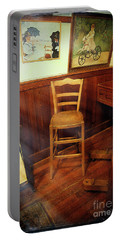 Portable Battery Charger featuring the photograph Monet's Art Studio Chair by Craig J Satterlee
