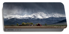 Portable Battery Charger featuring the photograph Montana Homestead by Brad Allen Fine Art