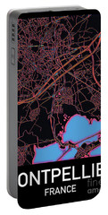 Montpellier City Map Portable Battery Charger