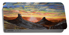 Monument Valley And Kokopelli Portable Battery Charger