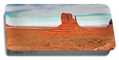 Portable Battery Charger featuring the photograph Monument Valley Panorama by Andy Crawford