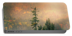 Portable Battery Charger featuring the photograph Moody Autumn Morning On Moosehead Lake by Dan Sproul