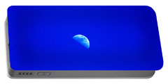 Moon In A Daytime Sky Portable Battery Charger