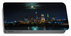 Moon Over Cleveland  Portable Battery Charger