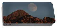 Moon Rise Over Mount Wrightson  Portable Battery Charger