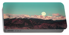 Moonlight Over Colorado Mountains Portable Battery Charger