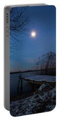 Moonlight Over The Lake Portable Battery Charger