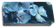 Moonlit Night In The Blooming Garden Portable Battery Charger