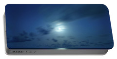 Moonrise Over The Sea Portable Battery Charger