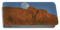 Moonrise Over The Tucson Mountains Portable Battery Charger