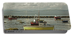 Morecambe. Boats On The Shore. Portable Battery Charger