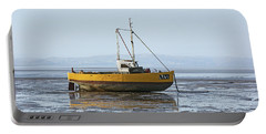 Morecambe. Yellow Fishing Boat. Portable Battery Charger