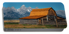 Portable Battery Charger featuring the photograph Mormons Barn 3779 by Donald Brown