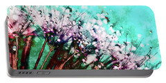 Morning Dew On Dandelions Portable Battery Charger