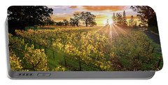 Morning In Napa Portable Battery Charger