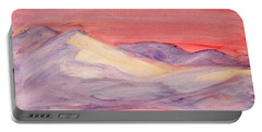Portable Battery Charger featuring the painting Morning Light In The Mountains by Dobrotsvet Art