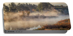 Morning Mist On The Sudbury River Portable Battery Charger