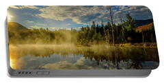 Morning Mist, Wildlife Pond  Portable Battery Charger
