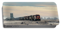 Portable Battery Charger featuring the photograph Morning Run by Brad Allen Fine Art