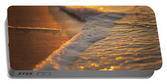 Portable Battery Charger featuring the photograph Morning Shoreline by Tom Gresham