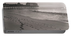 Portable Battery Charger featuring the photograph Morning Walk On Old Orchard Beach by Dan Sproul