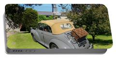 Morris Minor Grey Convertible Portable Battery Charger