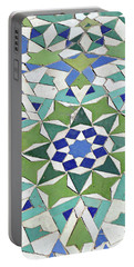 Mosaic Exterior Decorations Of The Hassan II Mosque Portable Battery Charger
