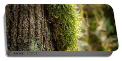 Moss On Bark Portable Battery Charger