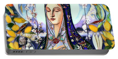 Portable Battery Charger featuring the digital art Mother Mary by Pennie McCracken