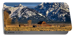 Portable Battery Charger featuring the photograph Moulton Barn Grand Tetons by Jacqueline Faust