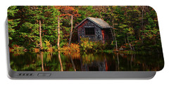 Portable Battery Charger featuring the photograph Mount Greylock Cabin by Raymond Salani III
