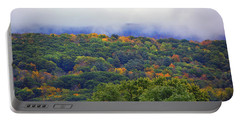 Portable Battery Charger featuring the photograph Mount Greylock In The Clouds by Raymond Salani III