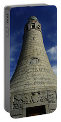 Portable Battery Charger featuring the photograph Mount Greylock Tower Up And Close 2 by Raymond Salani III