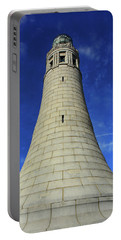 Portable Battery Charger featuring the photograph Mount Greylock Tower Up And Close by Raymond Salani III