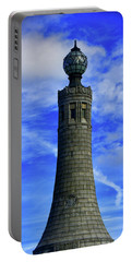 Portable Battery Charger featuring the photograph Mount Greylock Tower With Clouds by Raymond Salani III