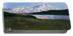 Mount Mckinley From Wonder Lake  Portable Battery Charger