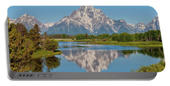 Mount Moran On Snake River Landscape Portable Battery Charger