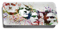 Mount Rushmore National Memorial Colorful Watercolor Portable Battery Charger