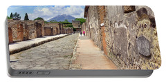 Mount Vesuvius And The Ruins Of Pompeii Italy Portable Battery Charger