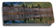Mountain Lake Reflections Portable Battery Charger