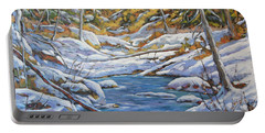 Mountain Landscape Winter By Richard Pranke Portable Battery Charger