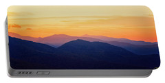 Mountain Light And Silhouette  Portable Battery Charger