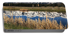 Portable Battery Charger featuring the photograph Mountain Reflection by Jacqueline Faust