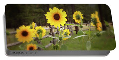 Mountain Sunflowers Portable Battery Charger