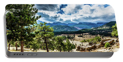 Portable Battery Charger featuring the photograph Mountains Across The Way by James L Bartlett