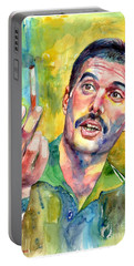 Mr Bad Guy - Freddie Mercury Portrait Portable Battery Charger