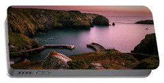 Mullion Cove Sunset - Cornwall General View Portable Battery Charger