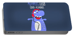 Mummy's Little Loud-asaurus - Baby Room Nursery Art Poster Print Portable Battery Charger